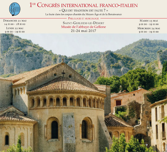 1er Congrès international franco-italien « Qui dit tradition dit faute ? »